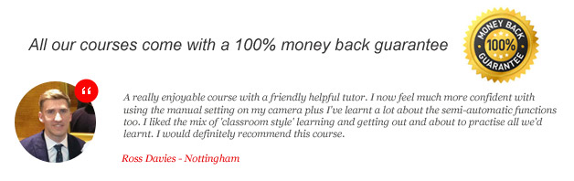 Photography testimonial from ross
